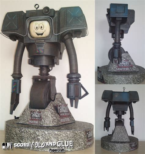 Fallout Papercraft - papercraft fallout model securitron complete