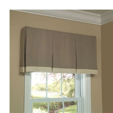 Window Box Curtains Box Pleat Valance Shorter House Ideas