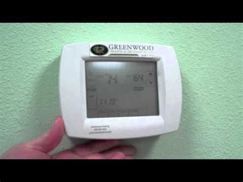 changing the batteries on a trane touchscreen thermostat