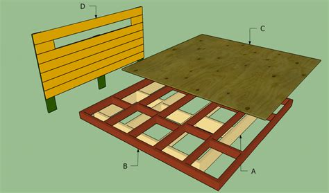 Building A Platform Bed Frame Size Platform Bed Building Plans Woodideas
