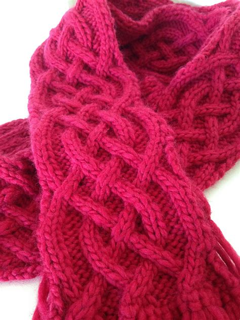 celtic cable knit scarf pattern celtic cable knit stitch pattern roundup studio knit