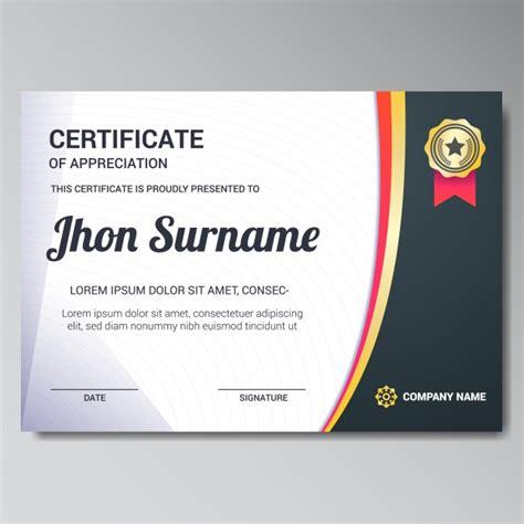 certificate design sle photoshop certificate template design vector free download