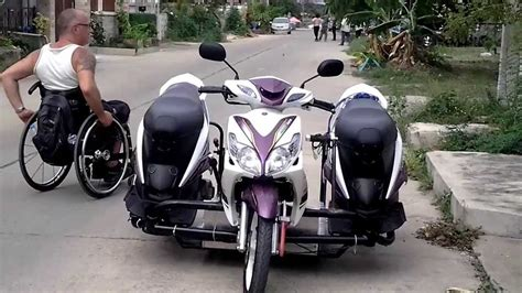 Motorrad 125 Ccm Dreirad by Trike Motorbike For Wheelchair Hua Hin Thailand Youtube