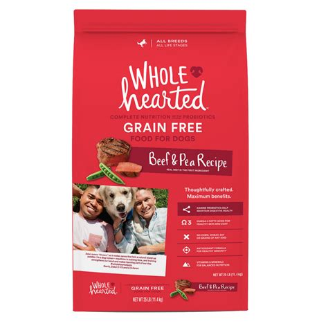 wholehearted food wholehearted grain free all stages beef pea formula food petco