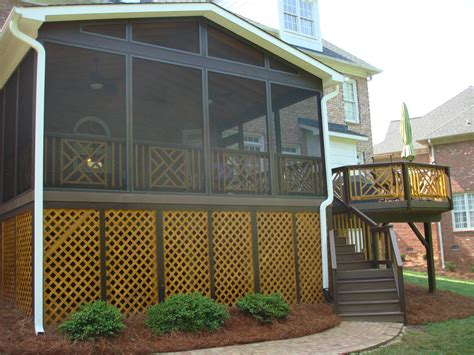 how to screen in a deck with no roof this greensboro triad porch and deck make great use of