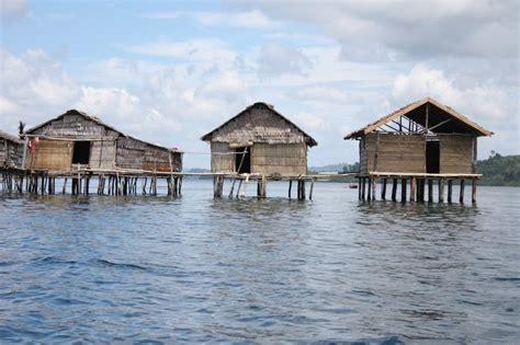 stilts house stilt houses of the bajo people photo