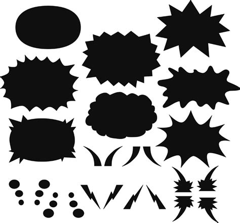 shape templates for photoshop creating speech bubbles in photoshop i luv pixels