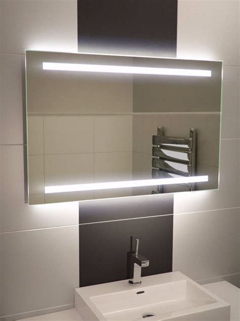 bathroom mirror light lumin wide led light bathroom mirror led demister