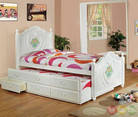 white platform bedroom sets isabella ii white platform bedroom set with trundle and 3