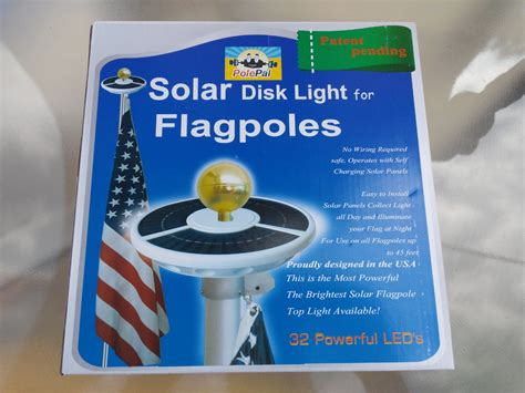 solar light for flagpoles solar disk light for flagpoles