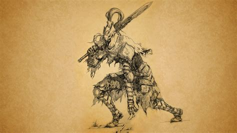 dark souls sketch drawing sword hd wallpaper games