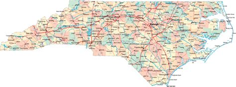 nc map carolina nc travel around usa