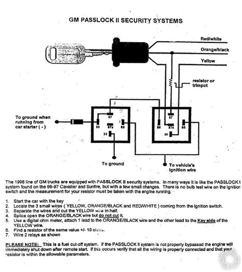 passlock resistor value wire obd ii wont communicate because of remote start page 2 chevy and gmc duramax diesel forum