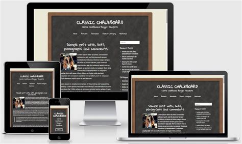 blogger templates for mobile phones classic chalkboard blogger template newbloggerthemes com