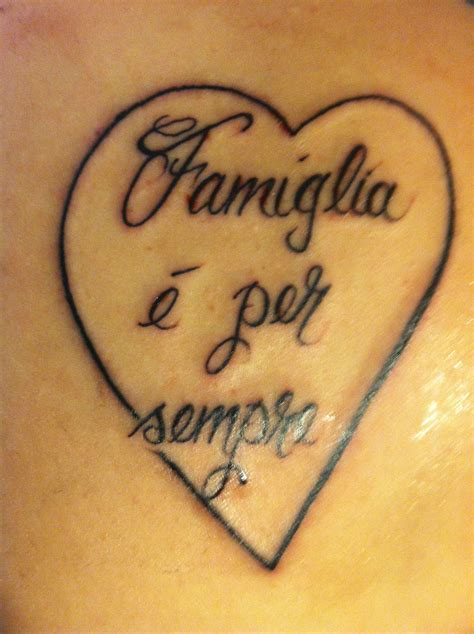 family is forever tattoos family is forever in italian nothing more