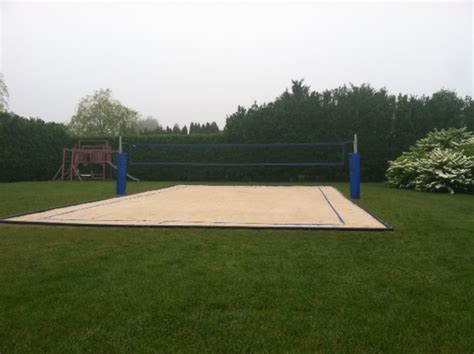 how to build a sand volleyball court in backyard triyae com backyard sand volleyball court various