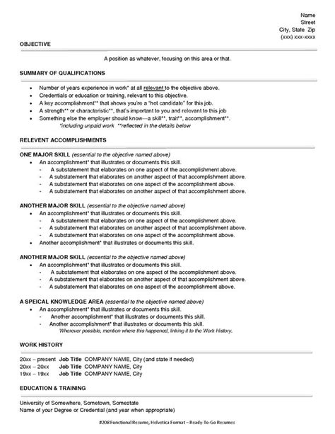 resume sle for summer functional style resume sle functional resume style 1