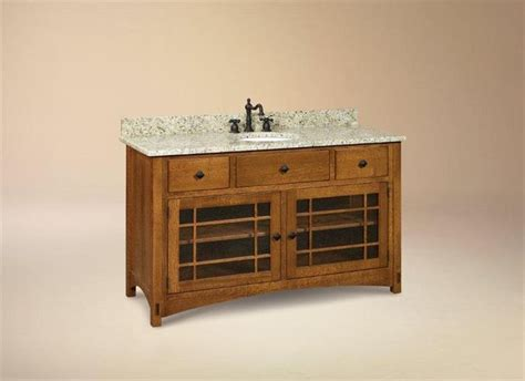 Mission Style Vanity Cabinet by 1000 Ideas About Craftsman Bathroom On