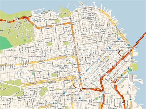san francisco map mission district map of mission district san francisco michigan map