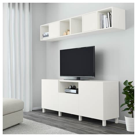 besta 80 cm eket best 197 combinaison rangement tv blanc 210x40x220 cm ikea