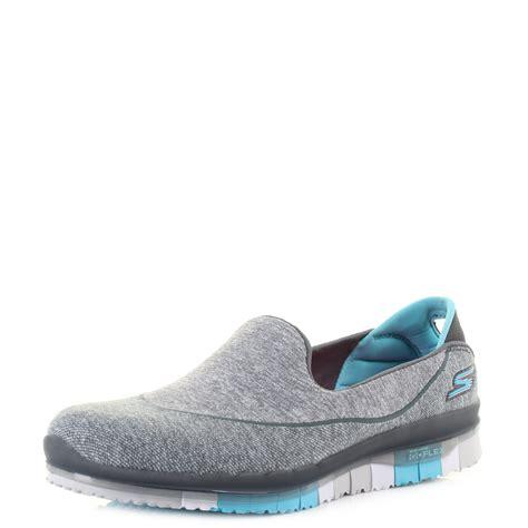 New Skechers Go Flex Blue womens skechers go flex charcoal blue lightweight activity slip on shoes shu siz ebay