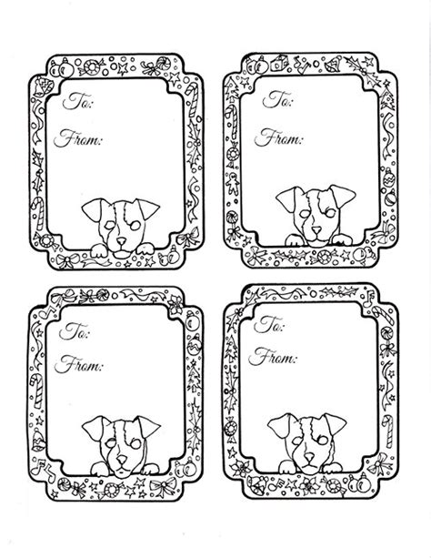 free printable gift tags to color make it easy crafts download these free printable doggie