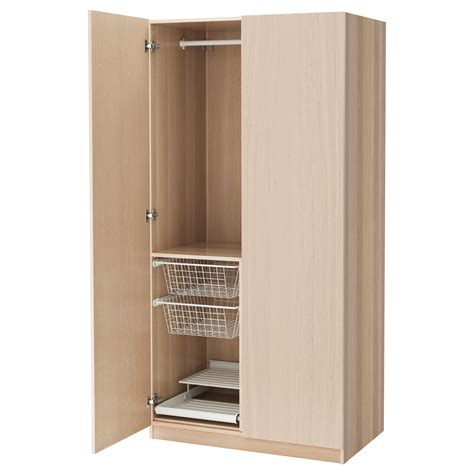 armoire pax ikea pax wardrobe white stained oak effect nexus white stained