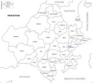 Rajasthan Blank Map by Sri Ganganagar