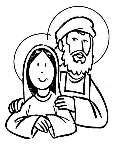 Imagenes De Jesus Jose Y Maria Para Colorear | virgen maria y san jose dibujalia dibujos para