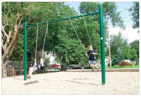 single post swing 4 5 quot od single post swing playground equipment for