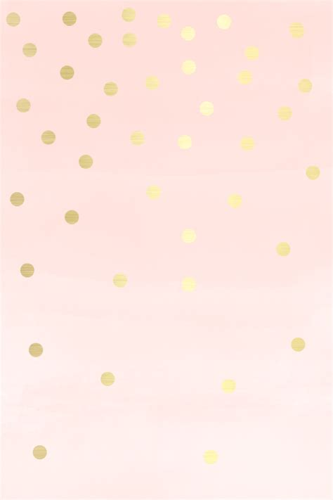 wallpaper with gold spots lovely blush soft pink gold spots dots iphone wallpaper