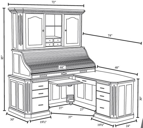roll top desk with hutch fifth avenue executive roll top desk with hutch