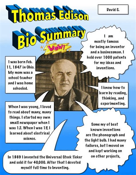 biography for primary students ipad biography summary comic exlestudent use an image