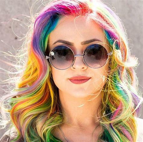 colour style rainbow hair colors for holidays 2016 hairstyles 2017