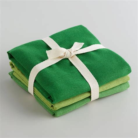 Green Kitchen Towel Set by Green Flour Sack Kitchen Towels Set Of 3 World Market