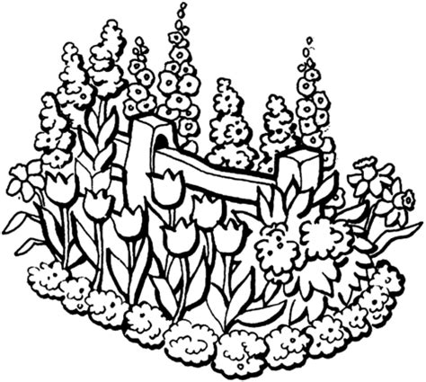 beautiful garden coloring page supercoloring com