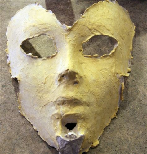 How To Make A Mask Without Paper Mache - surface smoothing technique for paper mache masks guest