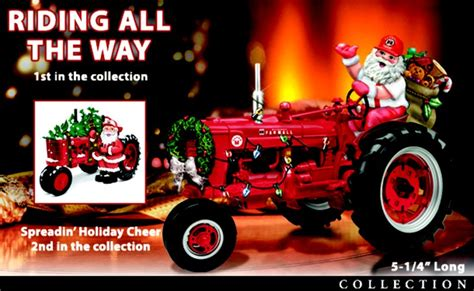 tractor christmas tree lights villages and trees with animals carosta