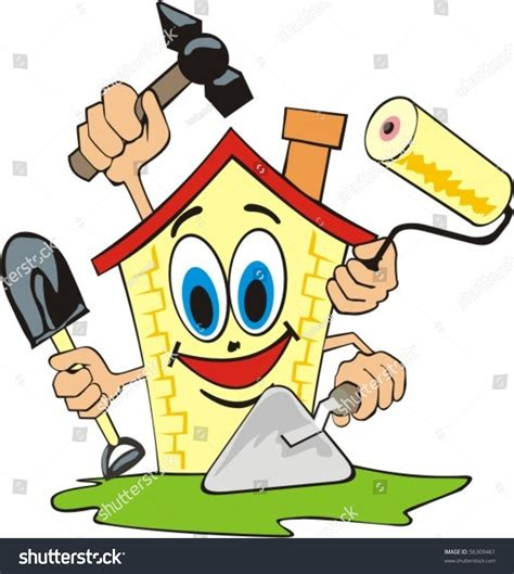 Cartoon House Does Repair Work Stock Vector 56309461   Shutterstock