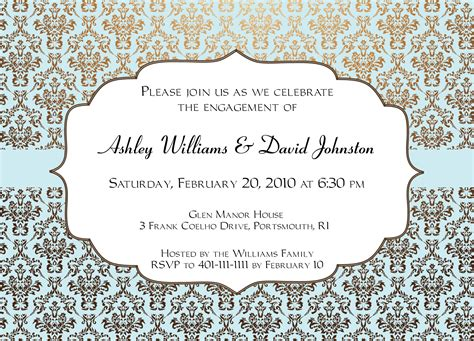 Engagement Invitation Design Invitation Templates Engagement Card Template