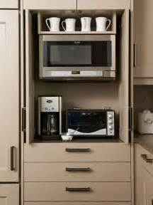small appliance storage organization kitchen