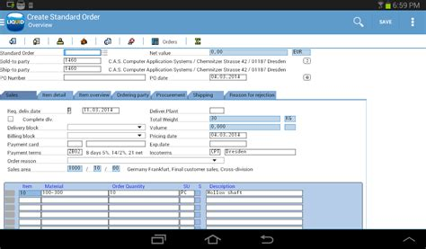 sap ui layout griddata guixt liquid ui for sap android apps on google play