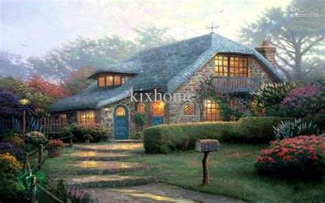 painting at home 2017 oil painting landscape home art lilac cottage by