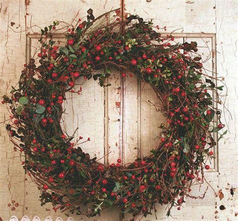 Winter Wreaths For Front Door Auburn Berry Silk Winter Door Wreath 22 In Auburn The O Jays And Berries