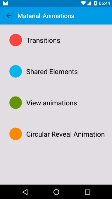 animation layout fade in material animations