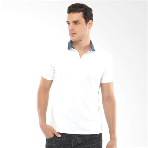 Kaos Pria Nike Putih F3953 jual cvnl denim collar slimfit putih kaos polo pria