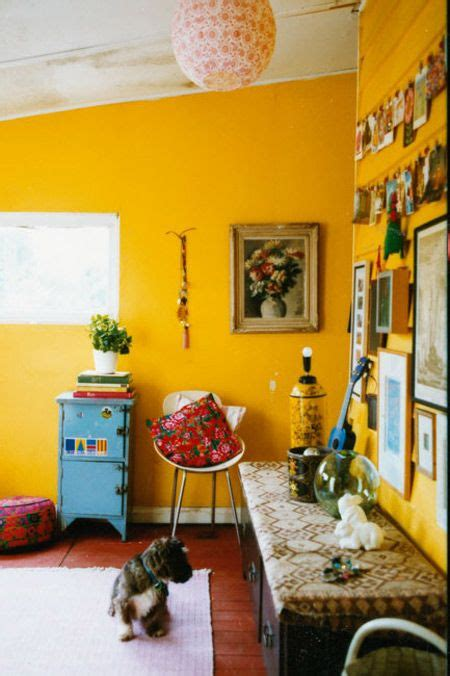 bright yellow wall paint 2971