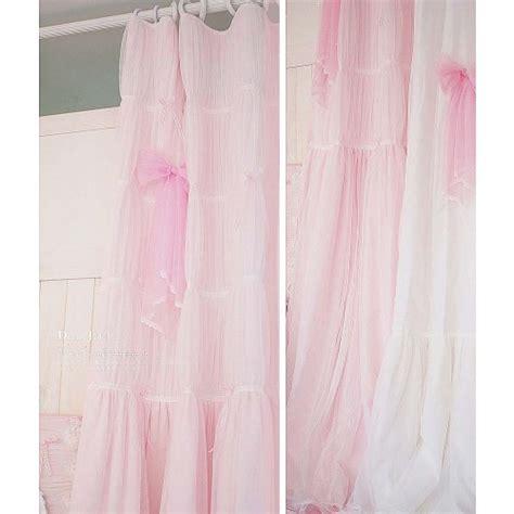 Curtain L Pink 21 pink ruffle curtain
