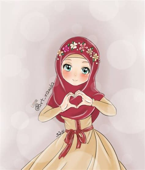 anime loker gambar wallpaper kartun hijab gudang wallpaper
