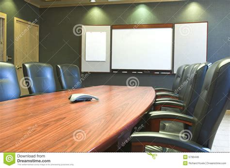 Whiteboard Conference Table Conference Table W Blank Whiteboard Royalty Free Stock Image Image 5790446